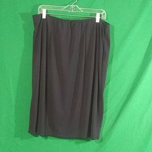Diane von Furstenberg 2x black midi skirt